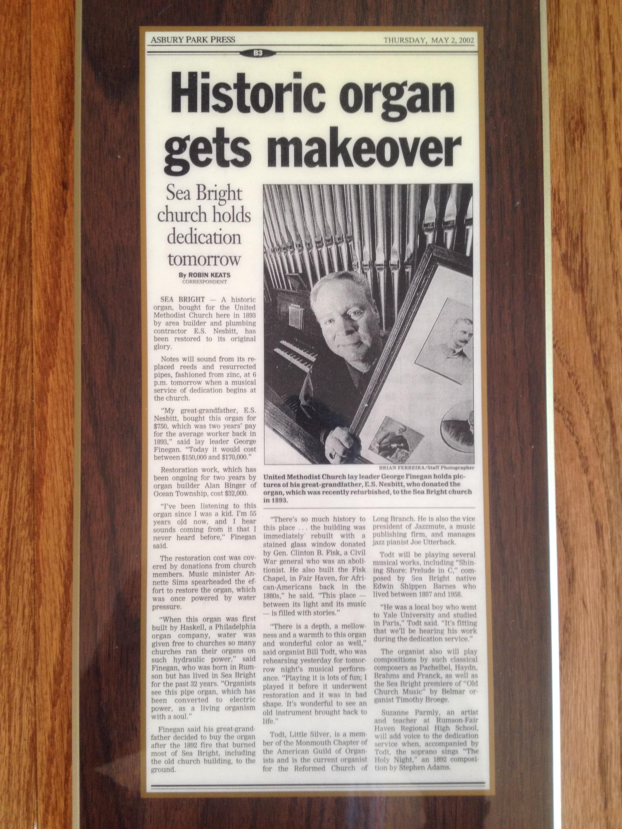 Historic Organ Makeover