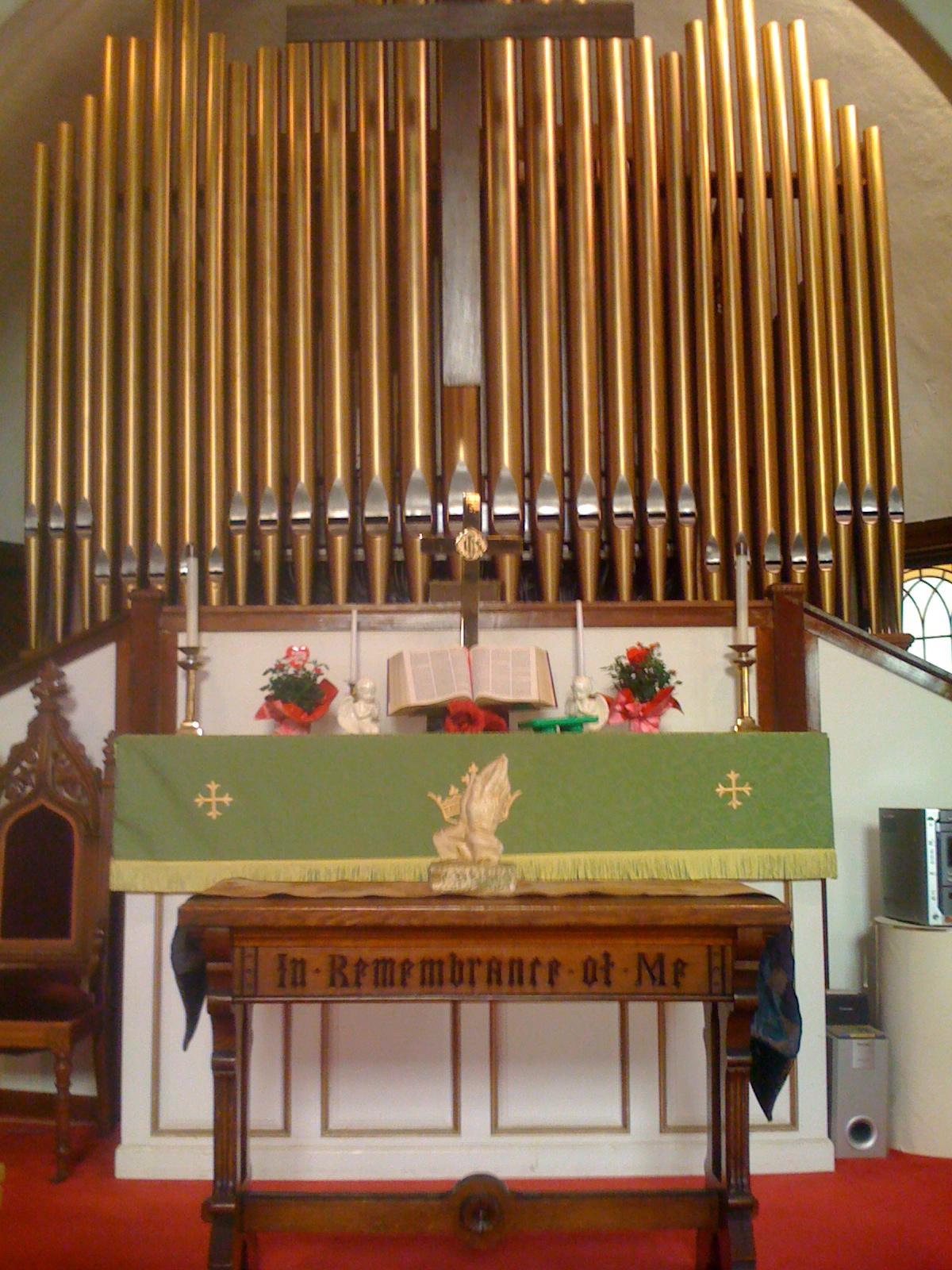 Pipe Organ and altar