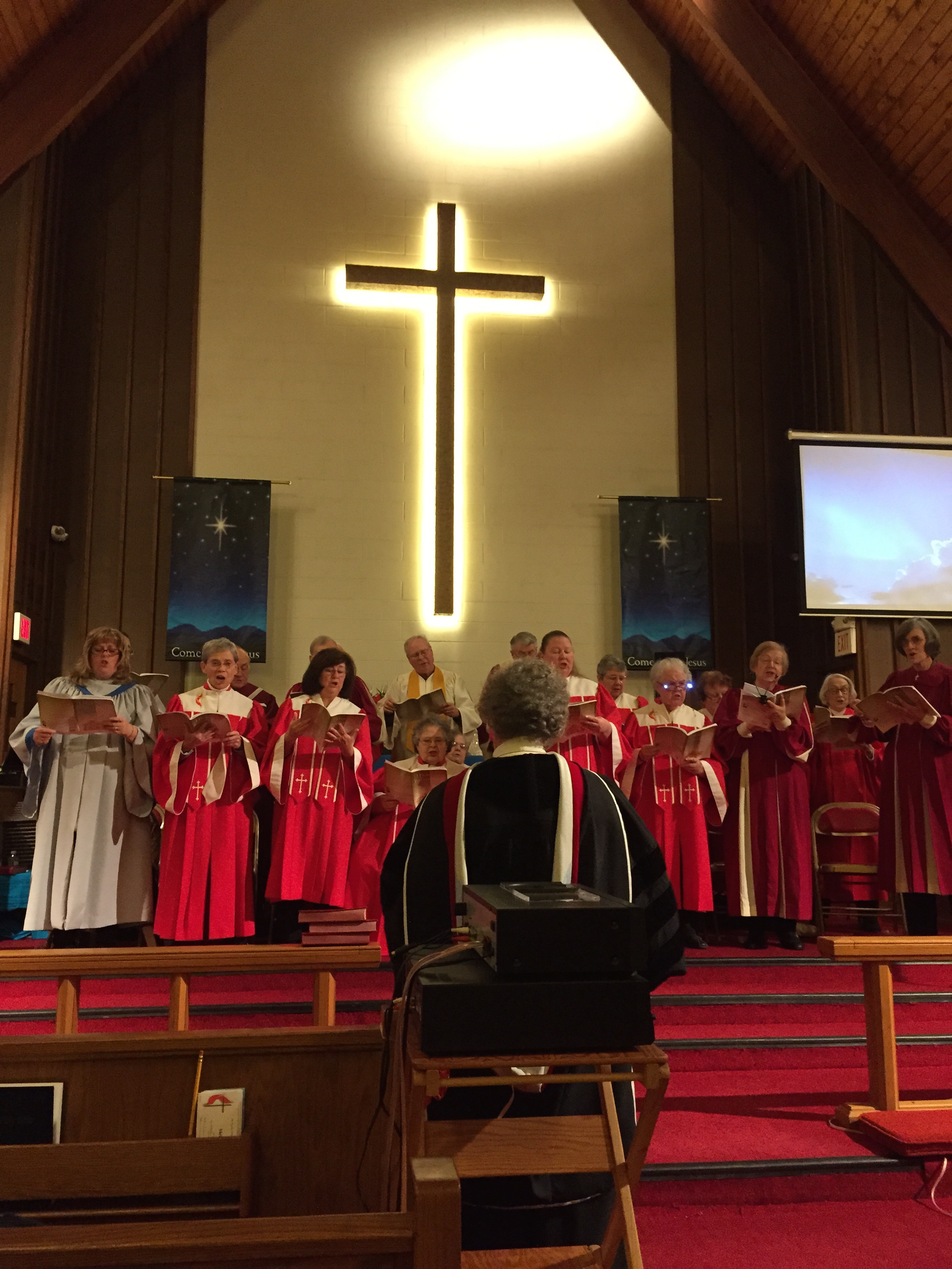 Image of the Northern Shore Cluster Choir at the Matawan UMC on Nov 30.